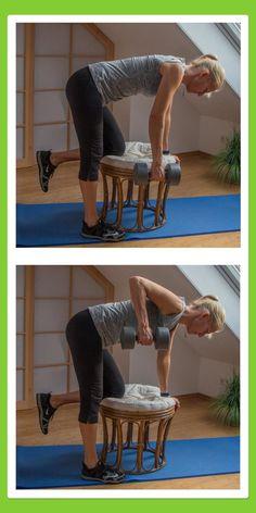 Übungen für den Rücken: Einarmrudern