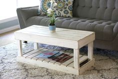 Shop Rustic Weathered Reclaimed Wood Slatted Bottom Coffee Table - On Sale - Ships To Canada - Overstock - 25602641 Reclaimed Wood Furniture, Pallet Furniture, Furniture Making, Home Furniture, Rustic Coffee Tables, Distressed Coffee Tables, Coffee Table Out Of Pallets, Pallet Tables, Coffee Table Overstock