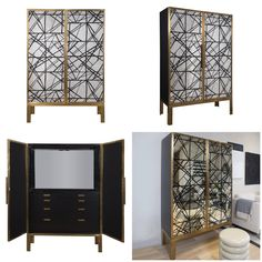Modern #glam Mulholland Cabinet from Kelly Wearstler's new #furniture collection