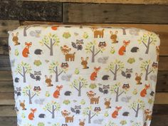 Woodland Animals Crib Sheet and changing pad cover by SimplyFitted