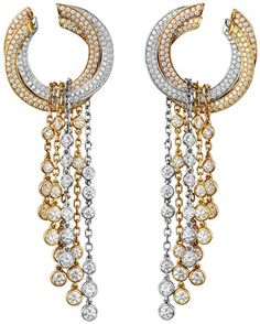 Diamond earrings by Cartier
