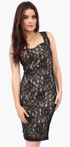 Lace overlayed midi dress I love this dress but i don't think it would look good on me though