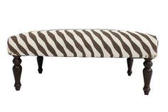 Sybille Striped Kilim Bench