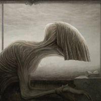The dark fantasy art of Anton Semenov an illustrator and digital artist from Bratsk in Russia. Anton, Dark Art Illustrations, Illustration Art, Creepy, Scary, 7 Arts, Astral Projection, Melancholy, Surreal Art