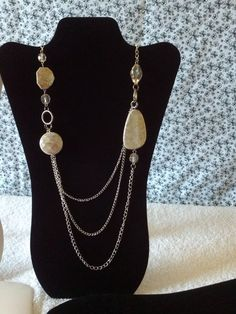marble stone look gold layered bead necklace & stud earrings set jewelry Chunky Jewelry, Metal Jewelry, Beaded Jewelry, Jewelry Necklaces, Handmade Jewelry, Beaded Necklace, Jewlery, Classic Gold, Making Ideas