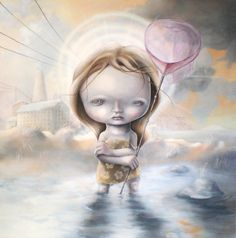 Limited edition Giclee print The Searching the blue by angelshaug, $65.00