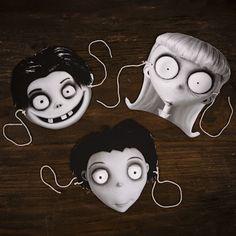 Téléchargez gratuitement votre masque de Halloween à la Tim Burton