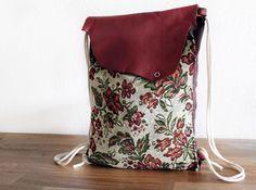 Klasse Begleiter für den Herbst: Rucksack im Vintage Look in herbstlichen Farben / perfect autumn accessory: backpack, vintage style by halfbird via DaWanda.com