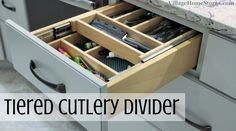 tiered cutlery divider. | VillageHomeStores.com