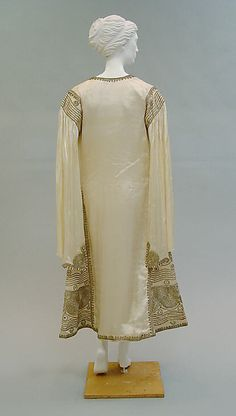 Evening dress by Paul Poiret. Date: 1920s. Culture: French Medium: silk, metallic. Metropolitan Museum of Art.