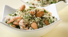 Couscous salad with cranberries and almonds
