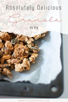 An absolutely delicious granola recipe. I know that granola is not hard to make but I encourage you to try this one. Breakfast For A Crowd, Breakfast Recipes, Toddler Friendly Meals, Macro Calories, Pie Dessert, Freshly Baked, Breakfast Casserole, Egg Recipes, Us Foods