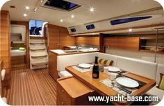 hunter 44 sailboat interior...someday this will be my new boat!
