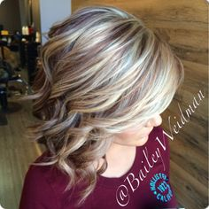 Bold beautiful blonde and deep red!