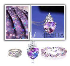 """Jeulia Jewelry - Purple Passion"" by minka-989 ❤ liked on Polyvore featuring purple, jewelry and jeulia"