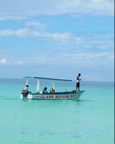 Glass bottom boat. Negril, Jamaica. You can see straight to the bottom!