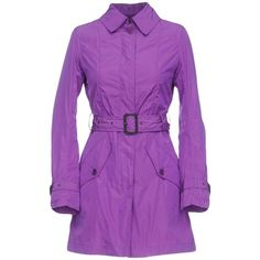 Aspesi Overcoat ($250) ❤ liked on Polyvore featuring outerwear, coats, purple, over coat, single-breasted trench coats, aspesi, purple coats and aspesi coat