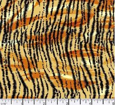 Tiger Fabric, Animal Print, Tiger Print Fabric, Animal Skin Fabric, Animal Fabric, 1 yard fabric