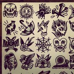 Afbeeldingsresultaat voor traditional black and grey flash tattoos