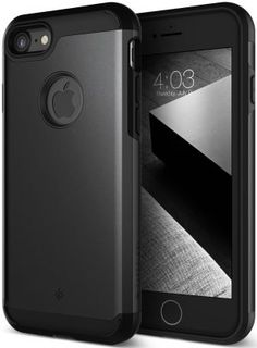 iPhone 7 Case, Caseology [Titan Series] Heavy Duty Protection Slim Protective Rugged Dual Layer Corner Cushion Design [Matte Black] for Apple iPhone 7 Iphone 7 Cover Case, Cool Iphone Cases, Best Iphone, Apple Iphone, Best Cell Phone Deals, Matte Black, Desktop, Satisfying Things, Innovative Products