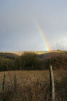 Nature Postcard   Rainbow on the Hill  France  par pergelisol, €2.10