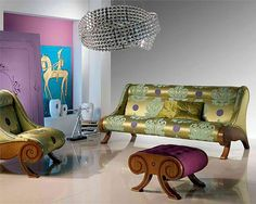 Show the glamour side of you from your furniture options..