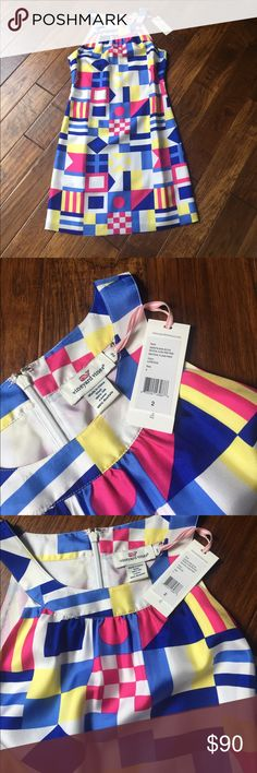NWT Vineyard Vines silk derby dress Brand new with tag. Beautiful silk nautical derby dress! Vineyard Vines Dresses Mini