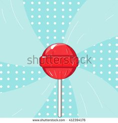 Lollipop background. Sweet colorful candies. Vector illustration - stock vector