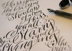 Creative Calligraphy, Typo, Lettering, Kate, and Forrester image ideas & inspiration on Designspiration Learn Calligraphy, Calligraphy Letters, Typography Letters, Modern Calligraphy, Calligraphy Course, Calligraphy Tutorial, Types Of Lettering, Brush Lettering, Lettering Design