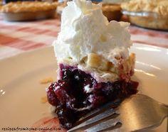 Gluten free cherry berry pie ~ sugar free, dairy free