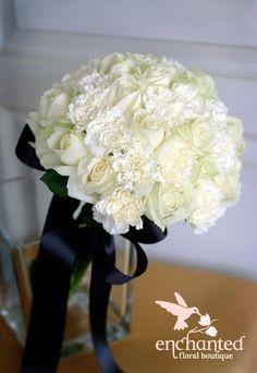 enchanted floral boutique: Ebony & Ivory bouquets