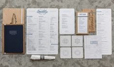 Goode Company has been perfecting the art of slow-cooked Texas Barbecue for over 35 years. Their motto: good food, done right.  Earlier this year the company underwent a brand redesign that is refreshing, authentic and nautically inspired.  Read more about their new identity & use of synthetic menus: