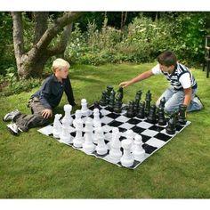 Jeu d'échecs d'extérieur - Échiquier géant