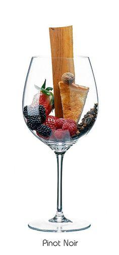 Descrição aromática da variedade: Pinot Noir