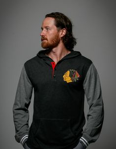 Happy Birthday, Duncan Keith! Duncan is wearing the Mitchell & Ness Hooded Long Sleeve.