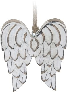Angel Wings White Decoration 13cm