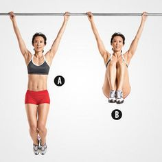 Hanging Leg Raise http://www.womenshealthmag.com/fitness/lower-belly-exercises/hanging-leg-raise