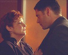 [gif] - This was awesome! - 7x12 Time After Time. I love that he almost kisses her back ^_^ All the ladies love Dean #Supernatural