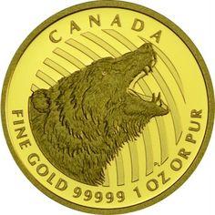 200 DOLLAR GOLD BRÜLLENDER GRIZZLY PP