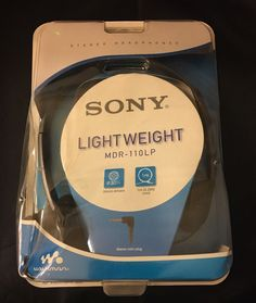 NEW 2005 Sony Lightweight Stereo Headphones MDR-110LP for Walkman
