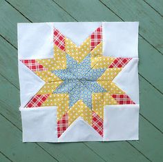 Sewn: 33 - Mini Lone Star  this would be a fun block to really blow the scale up