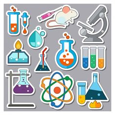 Science Party, Science Fair, Science For Kids, Science Education, Banner Digital, Mad Scientist Party, Kawaii Doodles, School Signs, Aesthetic Stickers