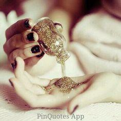 #glitter #gold #brayola