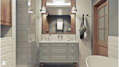 przestronna łazienka w stylu vintage