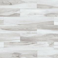 Happy Floors Tigerwood Snow 6 x 36 Porcelain Wood Look Tile
