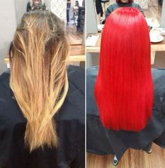Super hair red color manic panic ideas Best Picture For red hair wine For Your Taste You are looking Cool Blonde Hair Colour, Red Hair Color, Red Color, Pink Ombre Hair, Dyed Blonde Hair, U Cut Hairstyle, Pretty Hairstyles, Strawberry Blonde Bob, Red Hair