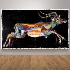 The impala was able to leap tall buildings in a single bound (Original Painting) Your Paintings, Original Paintings, Information Art, Get Gift Cards, Jean Michel Basquiat, Enamel Paint, Impala, Savannah Chat, A Team