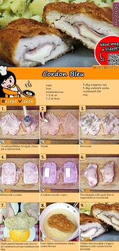 Chicken Cordon Bleu - A Family Feast® - New Ideas No Salt Recipes, Meat Recipes, Cooking Recipes, Healthy Recipes, Good Food, Yummy Food, Hungarian Recipes, Breakfast Time, Diy Food