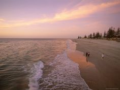 Brighton Beach Adelaide South Australia - watch as many sunsets at the beach (while eating fish and chips and chiko rolls) as possible