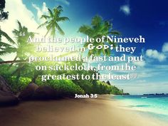 Jonah 3:5 Prophet Jonah, Believe In God
